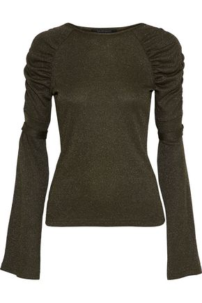 W118 by WALTER BAKER Lidell ruched metallic knitted top