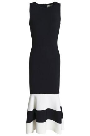 SACHIN & BABI Fluted two-tone stretch-knit midi dress
