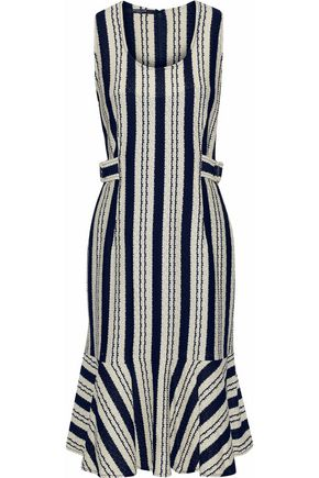 DEREK LAM Striped intarsia cotton dress
