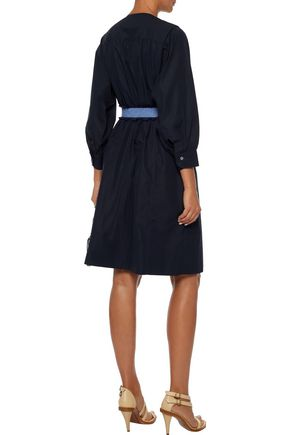 DEREK LAM Belted cotton-poplin dress