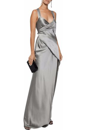 c512480df7 Silk-charmeuse maxi wrap dress | MICHELLE MASON | Sale up to 70% off ...