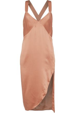 MICHELLE MASON Silk-charmeuse slip dress