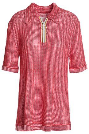 MAISON MARGIELA Open-knit linen and cotton-blend top