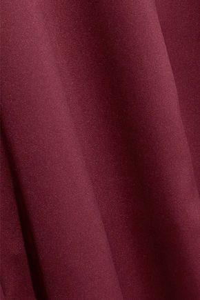 IRIS & INK Britney asymmertric satin midi dress