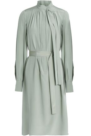VANESSA BRUNO Tie-front belted silk dress