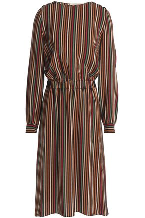 VANESSA BRUNO Gathered striped silk dress
