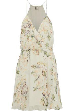 HAUTE HIPPIE Camelia wrap-effect floral-print silk crepe de chine dress