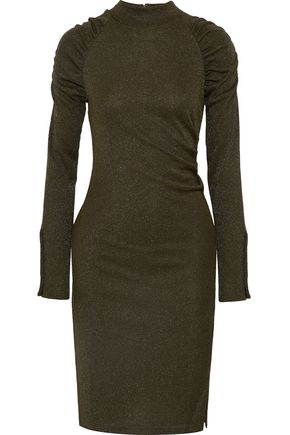 W118 by WALTER BAKER Ginavine ruched metallic knitted dress