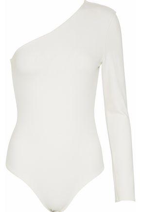 MICHELLE MASON One-shoulder ponte bodysuit