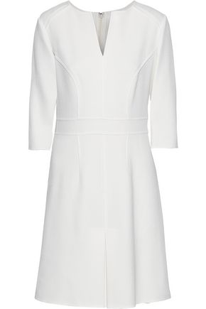CAROLINA HERRERA Pleated wool-crepe dress