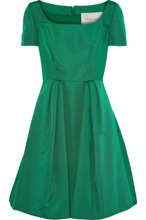 CAROLINA HERRERA Pleated silk-faille dress