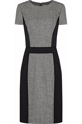 CAROLINA HERRERA Wool-blend tweed dress