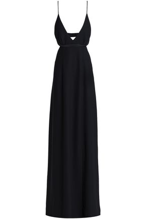 T by ALEXANDER WANG Open-back crepe gown