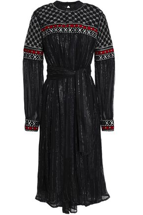 DODO BAR OR Embellished embroidered crepon dress