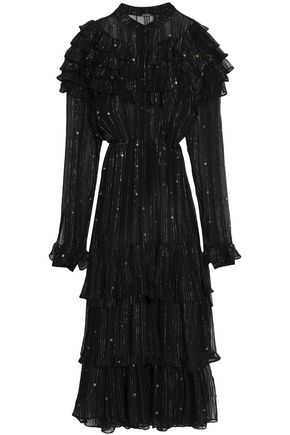 DODO BAR OR Ruffled embellished crepon dress