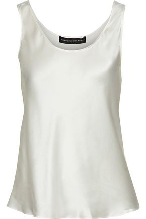 CAROLINA HERRERA Silk-charmeuse tank