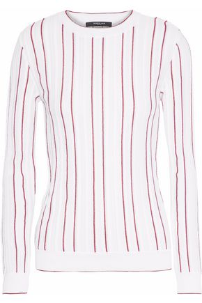 DEREK LAM Striped cotton-blend sweater