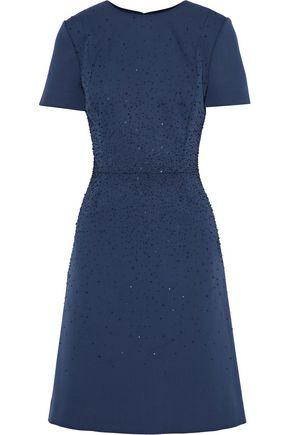 CAROLINA HERRERA Embellished wool dress