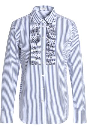 BRUNELLO CUCINELLI Striped stretch-cotton poplin shirt