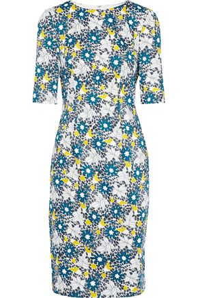 CAROLINA HERRERA Floral-print cotton-blend poplin dress