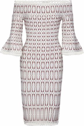 HERVÉ LÉGER Laser-cut stretch-knit dress