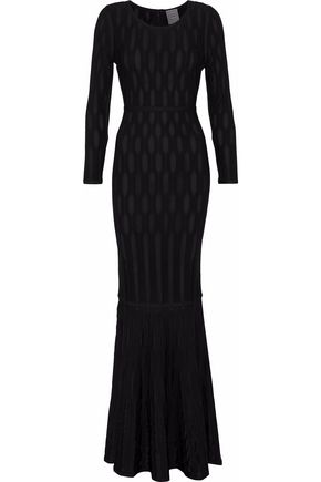 097fbce250c23 HERVÉ LÉGER Fluted ribbed-knit gown