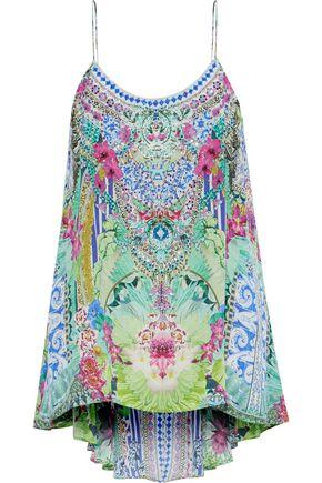 CAMILLA Bahia Bliss crystal-embellished printed silk top