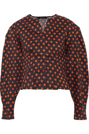 W118 by WALTER BAKER Elina polka-dot cotton-poplin blouse