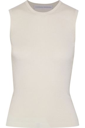 CAROLINA HERRERA Cashmere and silk-blend top