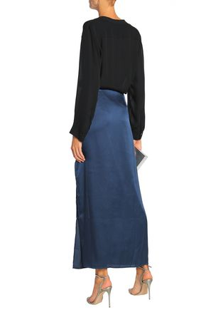 HALSTON HERITAGE Satin maxi skirt