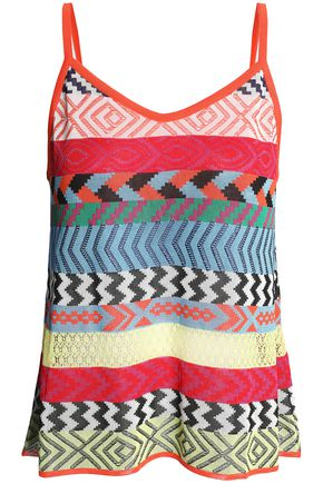 MARY KATRANTZOU Carya striped jacquard-knit camisole