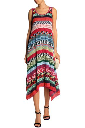 MARY KATRANTZOU Leandra striped jacquard-knit midi dress 44cd8d8c3