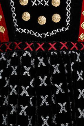 DODO BAR OR Sara embellished velvet midi dress