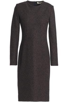 VANESSA BRUNO Herringbone wool-blend dress