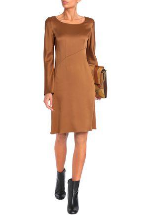 VANESSA BRUNO Satin-crepe mini dress