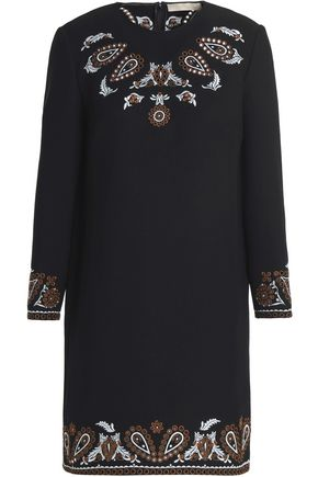 VANESSA BRUNO Embroidered crepe mini dress