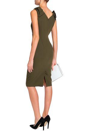 RAOUL Bow-embellished crepe dress
