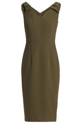RAOUL Bow-embellished crepe dress