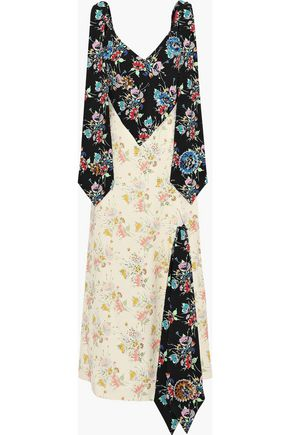 CHRISTOPHER KANE Embellished floral-print crepe maxi dress