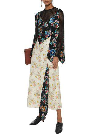 CHRISTOPHER KANE Embellished floral-print crepe maxi dress
