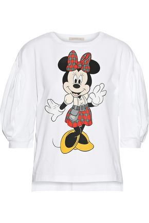 CHRISTOPHER KANE + Disney gathered printed cotton-jersey top