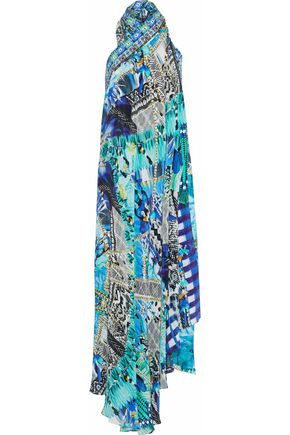 CAMILLA Leave Me Wild convertible embellished printed silk crepe de chine dress