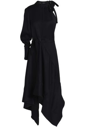 PROENZA SCHOULER Asymmetric belted woven maxi dress