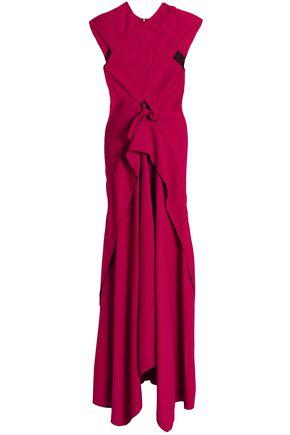 PROENZA SCHOULER Cutout draped crepe gown