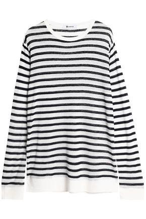 T by ALEXANDER WANG Striped slub jersey top
