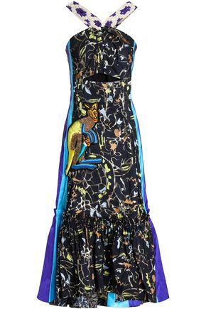 PETER PILOTTO Cutout embroidered fil coupé midi dress