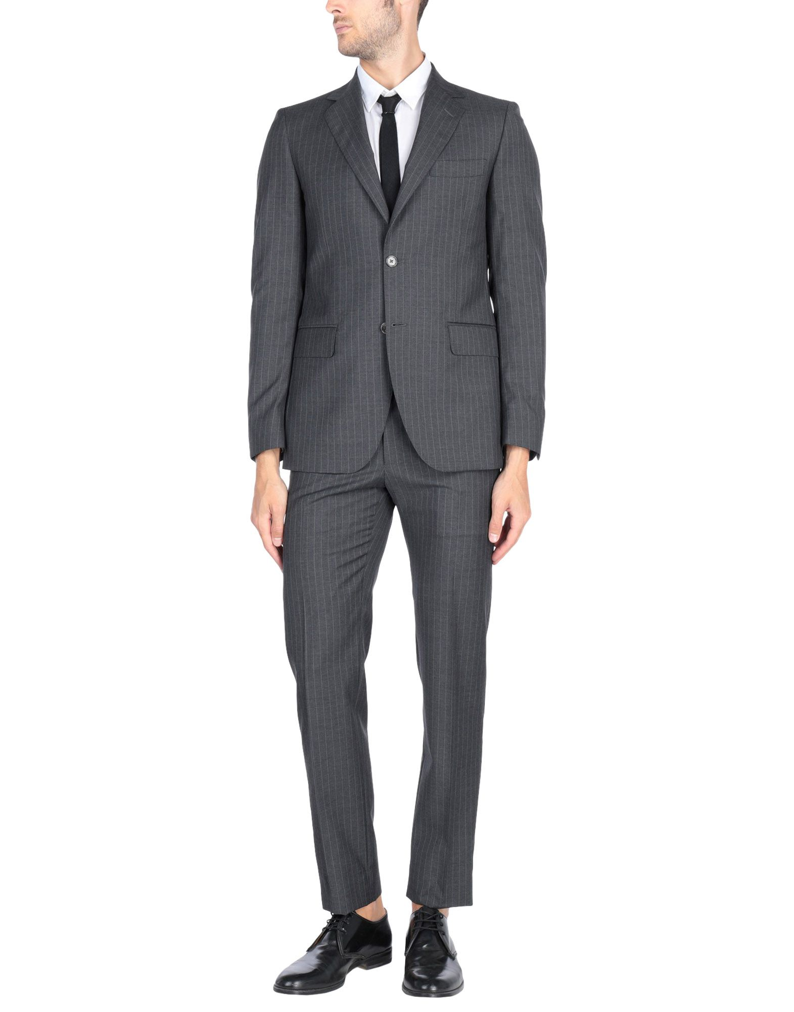 《送料無料》TOMBOLINI メンズ スーツ スチールグレー 46 100% スーパー100 ウール