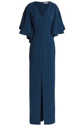 HALSTON HERITAGE Draped crepe gown