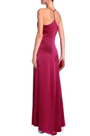 HALSTON HERITAGE Satin-crepe gown
