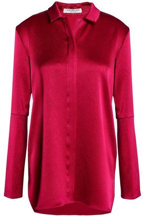 HALSTON HERITAGE Satin-crepe blouse